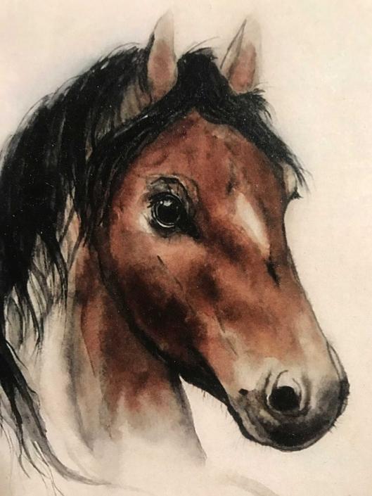 Pferde Bilder von Fotos gemalt |Das Atelier